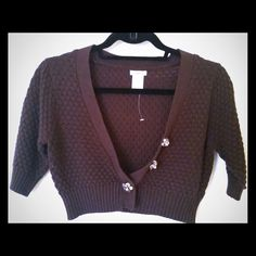 NEW! Studio Y by Maurice's Shrug Button in the front. Knitted shrug, great to wear over dresses and tanks! Never been worn. Open to offers! Studio Y Sweaters Cardigans