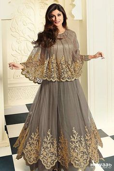 ATTRACTIVE AND STUNNING SHILPA SHETTY DESIGNER OUTFITS - KHWAAB LONDON - 1809