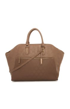 Primark - Taupe Weave Panel Winged Large Bag