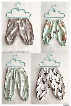 Made using the Pattern Emporium Baby Harem Pants pdf pattern