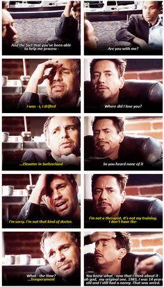 Iron Man 3  ..  Marvel's post-credit scene. HAHAHA omg I can't wait to see this. #IronMan #Hulk