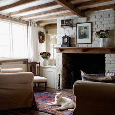 House to Home {eclectic rustic vintage modern living room} by recent settlers, via Flickr