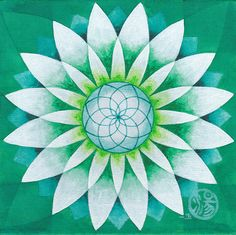 Mandala 34 Green Lily by mariagallery on Etsy