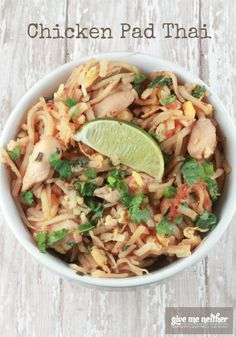 If you're looking for a little something yummy for dinner, here's how to make Chicken Pad Thai right in your kitchen. Quick and simple!