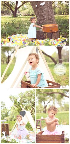 1st birthday session. Candy shop theme. fabric tent. Vintage suitcases and quilt. ©Ann Axon Photography | Children