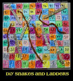 Artsy Craftsy Mom: DIY snakes and ladders