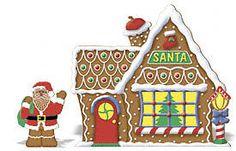 Gingerbread Santa & House Christmas Yard Art Decoration