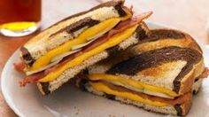 Recipes - Grilled Apple, Cheddar & Bacon Sandwiches Cooking #Recipes #recipe #cook #food