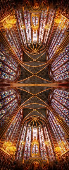 It's one of my favorite photos from France inside the Sainte Chapelle. When I was there, I managed to sneakily get my tripod into position, much to my wife's chagrin. Oh, and the chagrin of security once they finally discovered my rouse (which is very difficult to hide, btw). Anyway, I got my shots before getting in trouble - Paris, France - Photo from #treyratcliff Trey Ratcliff at http://www.StuckInCustoms.com