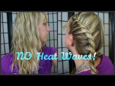 ▶ How To: Wave your hair with OUT HEAT! (French Rope Tutorial) - YouTube