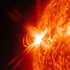 SIGNS IN THE SUN – Sun Unleashes Massive x-Class SolarFlare-One of the largest sunspots of the current solar cycle (SS#24) emerged over the sun's eastern limb three days ago and now has unleashed a giant X3-class flare!  NASA's Solar Dynamics Observatory recorded the extreme ultraviolet flash at about 5:15 pm local time.  Although the flare was very intense, it was brief and this should help to mitigate any impacts on Earth.