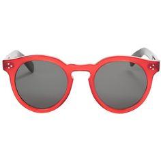 Illesteva Leonard 2 ($290) ❤ liked on Polyvore featuring accessories, eyewear, sunglasses, red, illesteva sunglasses, illesteva glasses, red glasses, acetate sunglasses et acetate glasses