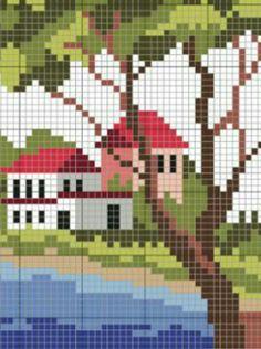 Cross Stitch House, Cross Stitch Needles, Cross Stitch Cards, Simple Cross Stitch, Cross Stitch Borders, Cross Stitch Baby, Wedding Cross Stitch Patterns, Modern Cross Stitch Patterns, Cross Stitch Designs