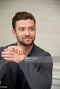 Justin Timberlake at the 'Trolls' Press Conference at the Four Seasons Hotel on August 27, 2016 in Beverly Hills, California.