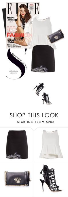 """""""Never Too Late"""" by firstboutique ❤ liked on Polyvore featuring Ermanno Scervino, Versace and Sophia Webster"""