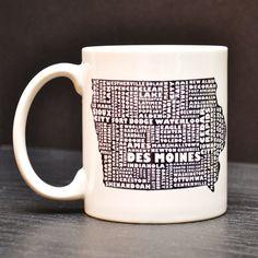 Iowa coffee mug $15 etsy DailyGrinder