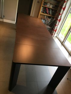 Fully extended New York ceramic top dining table. Delivered to our client in Surrey. Leather Bed, Corner Table, Extendable Dining Table, Round Corner, Surrey, Sofa Design, Modern Bedroom, Contemporary Furniture, Steel Frame