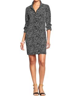 Women's Printed Pullover Shirt Dresses Old navy