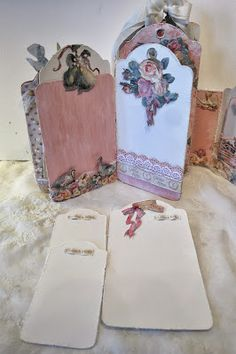 annes papercreations: G45 The Twelve Days of Christmas romantic and soft staples tag mini album. Tag serial 1