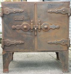 industrial oven rustic finish