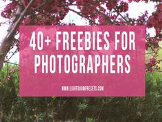 40+ Freebies for Photographers