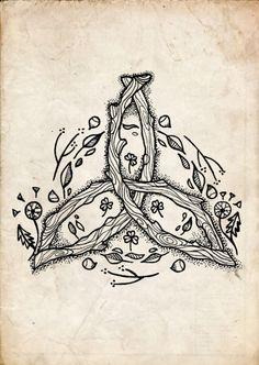 Imagem de earth, celtic, and flowers Pagan Tattoo, Witch Tattoo, Druid Tattoo, Celtic Symbols, Celtic Art, Celtic Dragon, Druid Symbols, Witch Art, Celtic Designs