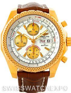 Breitling Bentley Motors GT 18K Yellow Gold Watch K13362
