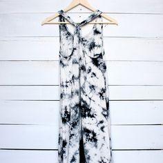 tie dye hi low beach cover up dress