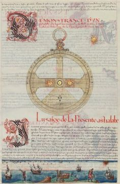 Manufacture and use of sea astrolabe The Premieres Works Jacques de Vaulx, Le Havre, 1583.