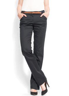 MANGO straight leg pants