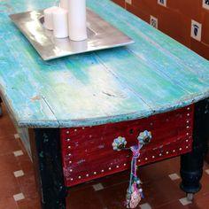 Restauración mesa retro Barcelona