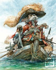 Etsy の Captain Cur print by StudioRayyan