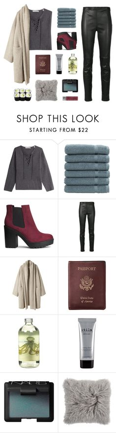 """"""" Beside me like a silhouette. """" by centurythe ❤ liked on Polyvore featuring Vince, Linum Home Textiles, H&M, Yves Saint Laurent, Lauren Manoogian, Royce Leather, TokyoMilk, Stila, NARS Cosmetics and Korres"""