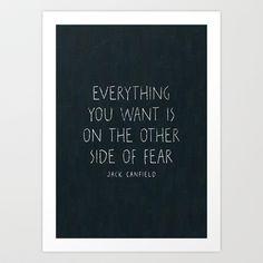 I. The other side of fear. Art Print by Zyanya Lorenzo - $18.00