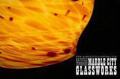 Barrel Pendants Custom Lighting Order any by MarbleCityGlassworks