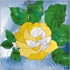 rose stained glass pattern | rose tile rose flower with bud stained glass pattern price $ 4 00