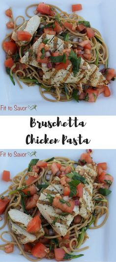 21 Day Fix approved Bruschetta Chicken Pasta. Oh my God, this is amazing! I seriously want to make this recipe every night for the rest of my life. Plus, it's HEALTHY...what more could you ask for?!