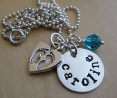 baby footprints necklace