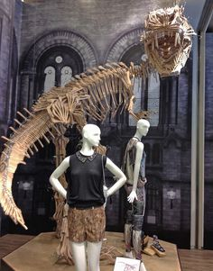 Clothes Hangers Dinosaurs Window Display 2012 at Harvey Nichols in Hong Kong on http://bestwindowdisplays.com
