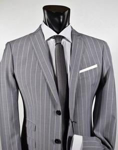68511c3c91f4 John Barritt slim fit grey pinstripe dress. Consigli Sulla ModaModa  MaschileAbiti Di ...