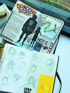 Interview: Avid Adventurer Reveals His Brilliant Travel Journal Ideas His Travel, Travel Maps, Travel Usa, Travelers Notebook, Voyage Sketchbook, Art Journals, Travel Journals, Visual Journals, Bullet Journals