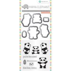 Mama Elephant / Hampton Art Clear Stamp & Die Set - Panda (mini) Hobbyboden 135kr