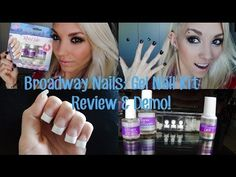 Broadway Nails Gel Nail Kit Review & Demo! - YouTube