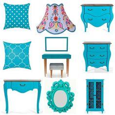 Alegria do Azul! Tudo isso você encontra na loja www.miusa.com.br