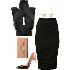 Untitled #449 by fashionkill21 on Polyvore featuring polyvore fashion style Dion Lee URBAN ZEN Christian Louboutin Ileana Makri
