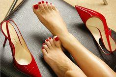 nice and well-groomed feet