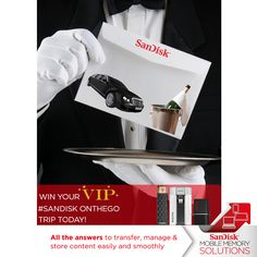 I  just entered the SanDisk OnTheGo VIP competition to win a VIP trip in Sydney, Melbourne or Brisbane! Enter now!
