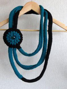 Knitted Scarf Crochet Scarf Infinity Loop by CraftsbySigita