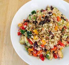Ensalada multicolor de quinoa y arroz integral
