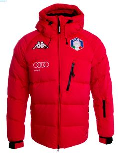 Kappa Men Italian Team FISI Down Jacket – Red